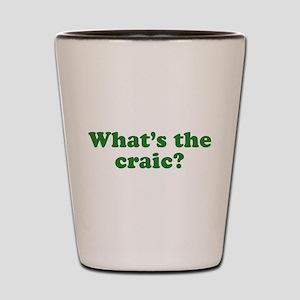 What's The Craic Shot Glass