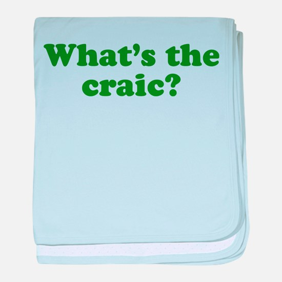 What's The Craic baby blanket