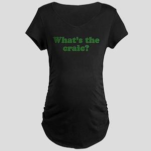 What's The Craic Maternity Dark T-Shirt