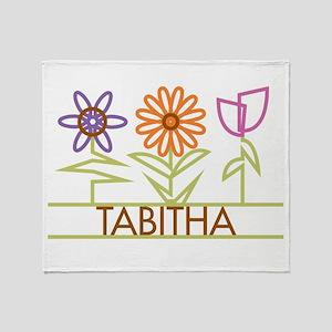 Tabitha with cute flowers Throw Blanket