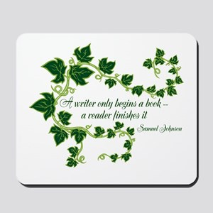 Writer and Reader Mousepad