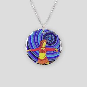Desert Dancer Necklace Circle Charm