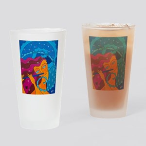 Flute Player Drinking Glass