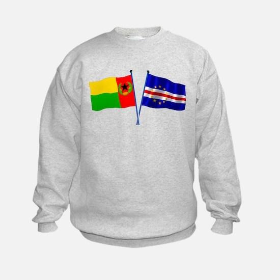 Cape Verde Flags Wave Sweatshirt