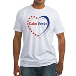Cabo Verde Stars Heart Fitted T-Shirt