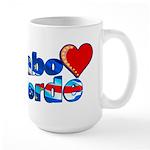 Cabo verde Heart Large Mug