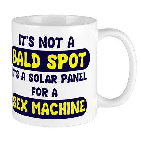bald spot solar panel sex mac Mug
