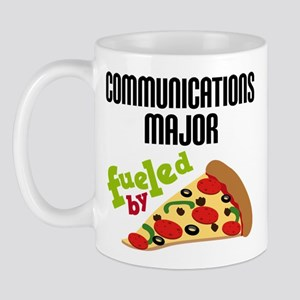 Communications Major Fueled by Pizza Mug