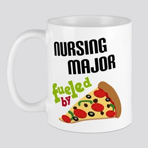Nursing Major Fueled by Pizza Mug