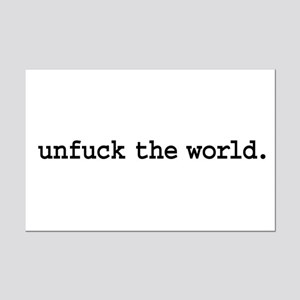 unfuck the world. Mini Poster Print