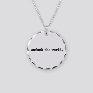 unfuck the world. Necklace Circle Charm