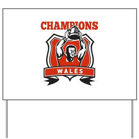 rugby champions wales Yard Sign