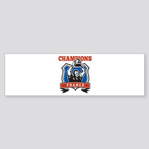 rugby champions france Sticker (Bumper)
