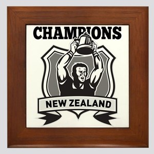 rugby champions new zealand Framed Tile