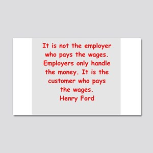 Henry Ford quotes 22x14 Wall Peel