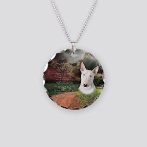 """""""Why God Made Dogs"""" Bull Terrier Necklace Circle C"""
