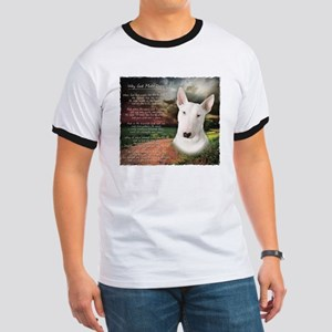 """Why God Made Dogs"" Bull Terrier Ringer T"