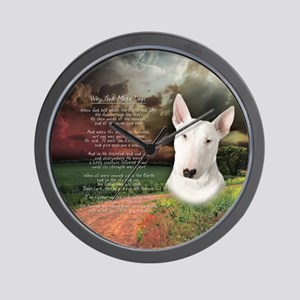 """""""Why God Made Dogs"""" Bull Terrier Wall Clock"""