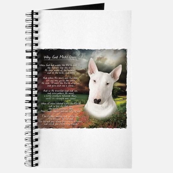 """""""Why God Made Dogs"""" Bull Terrier Journal"""