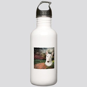 """Why God Made Dogs"" Bull Terrier Stainless Water B"