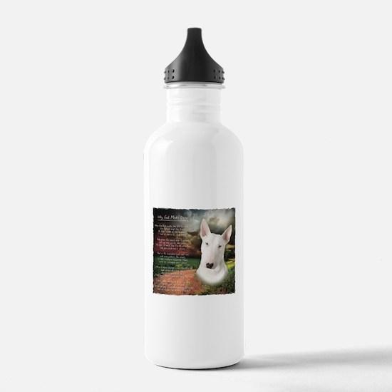 """Why God Made Dogs"" Bull Terrier Water Bottle"