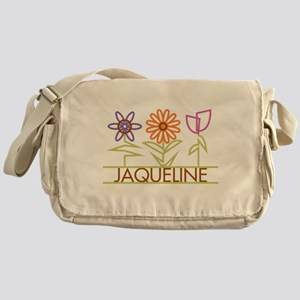 Jaqueline with cute flowers Messenger Bag