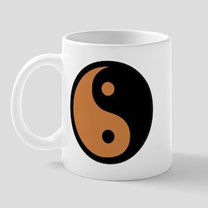 Ying Yang Brown Mug