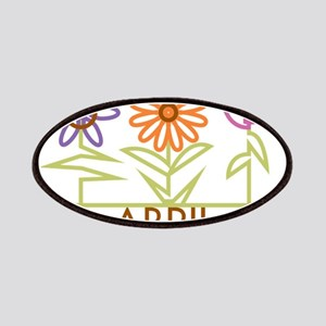 Abril with cute flowers Patches