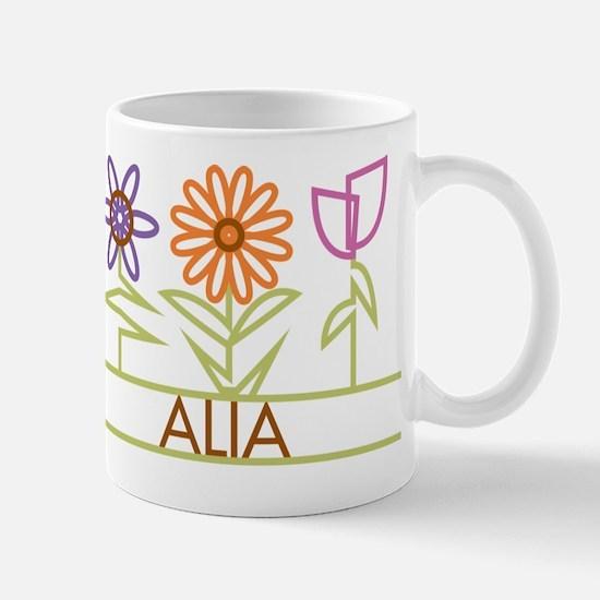 Alia with cute flowers Mug