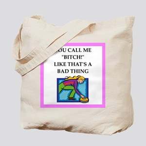 Womens sports and gaming joke Tote Bag