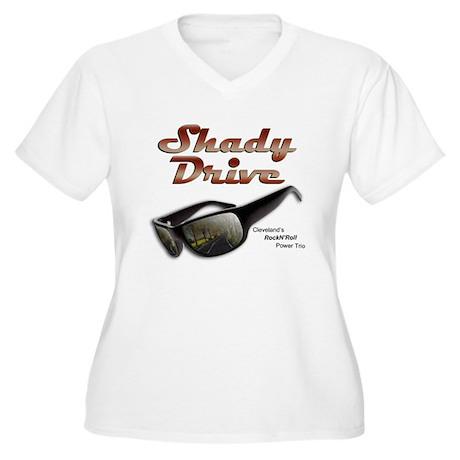 Shady Drive Women's Plus Size V-Neck T-Shirt