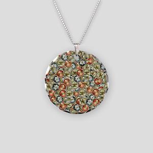 Hannukah Necklace Circle Charm