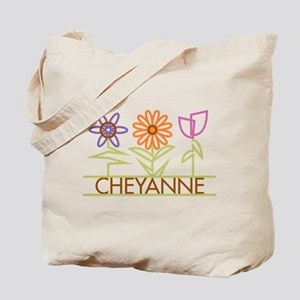 Cheyanne with cute flowers Tote Bag
