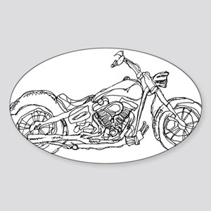 Motor Cycle Oval Sticker
