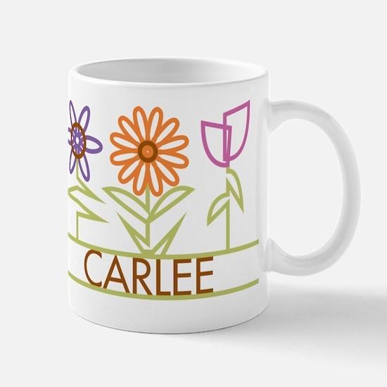 Carlee with cute flowers Mug