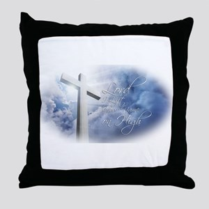 Lord I Lift Your Name on High Throw Pillow