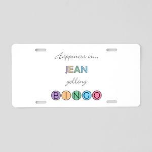 Jean BINGO Aluminum License Plate