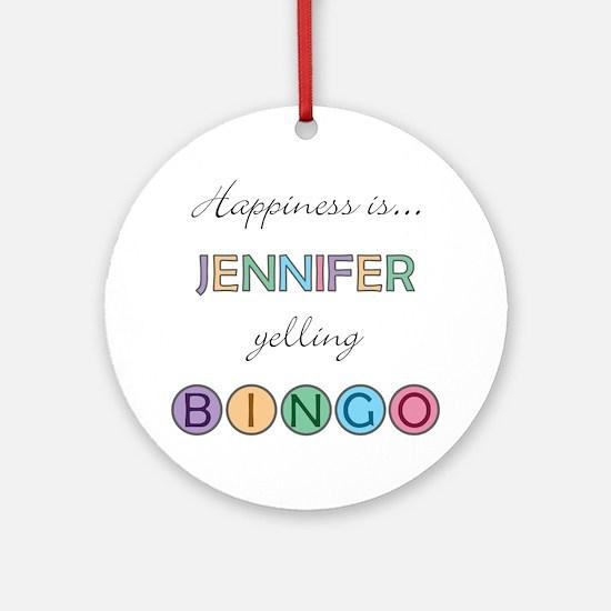 Jennifer BINGO Round Ornament