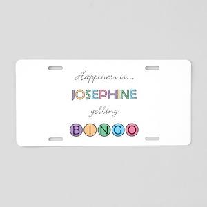 Josephine BINGO Aluminum License Plate