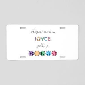 Joyce BINGO Aluminum License Plate