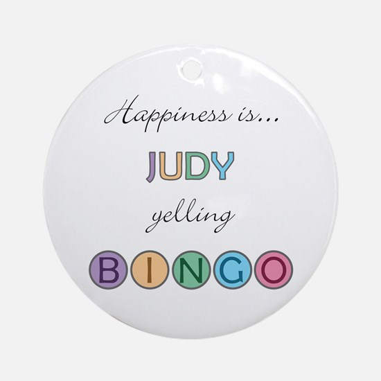 Judy BINGO Round Ornament