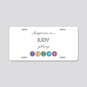 Judy BINGO Aluminum License Plate