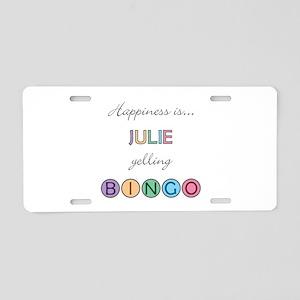 Julie BINGO Aluminum License Plate