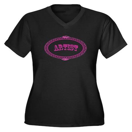 Artist Women's Plus Size V-Neck Dark T-Shirt