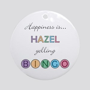 Hazel BINGO Round Ornament