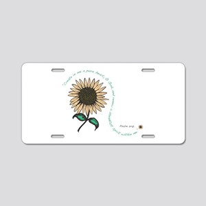 Creat in me a pure heart Aluminum License Plate