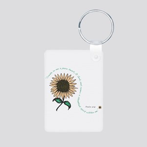 Creat in me a pure heart Aluminum Photo Keychain