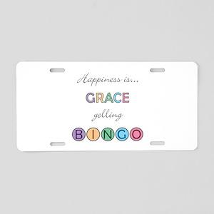 Grace BINGO Aluminum License Plate