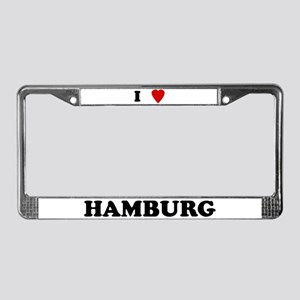 I Love Hamburg License Plate Frame