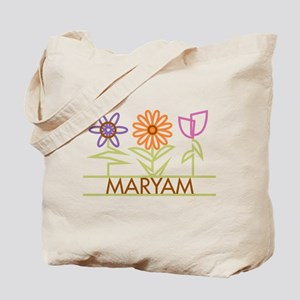 Maryam with cute flowers Tote Bag